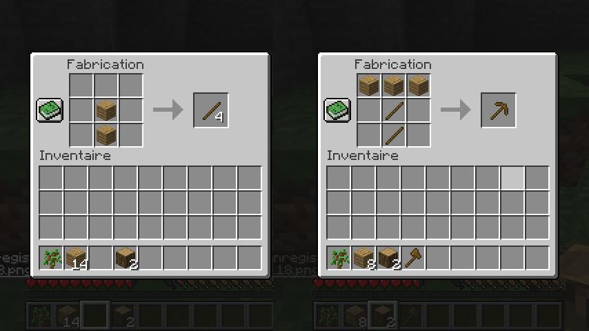 Fabriquer une pioche avec un établi