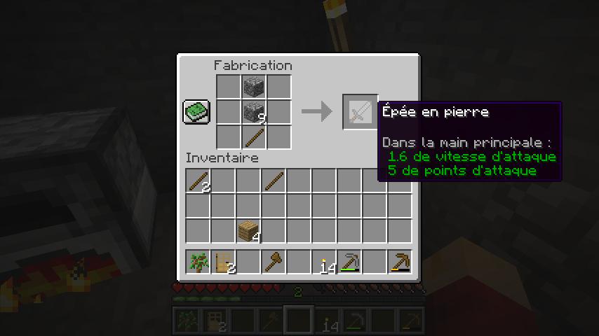 Fabriquer une épée en pierres